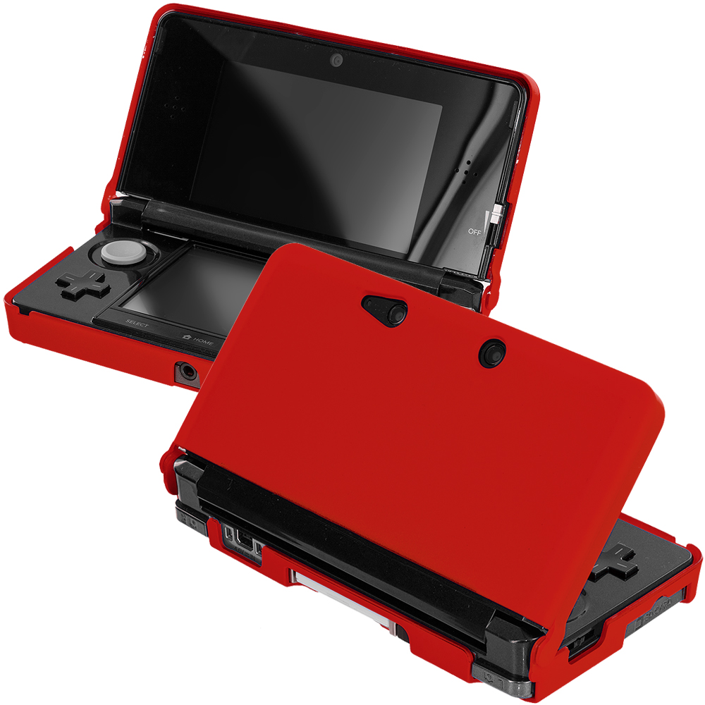 Nintendo 3DS Red Hard Rubberized Case Cover