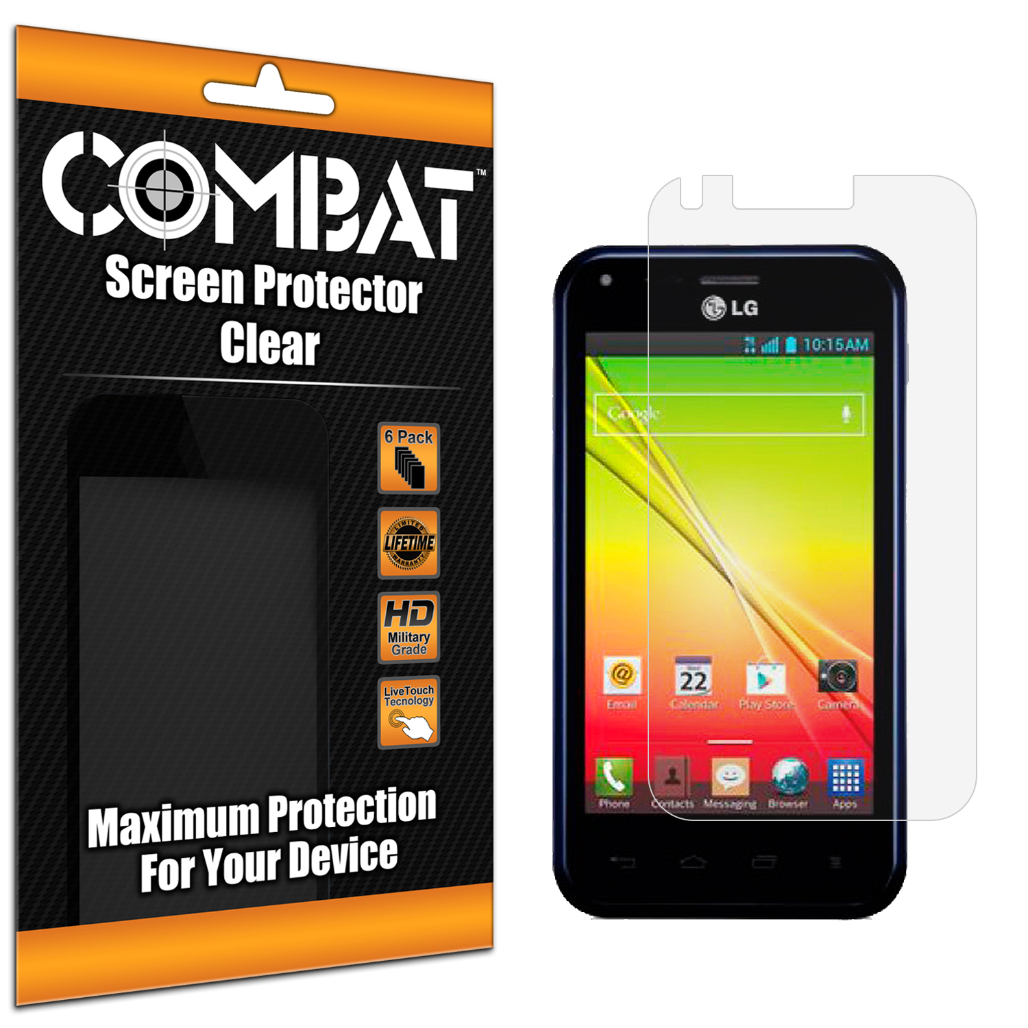 LG Optimus F3Q Combat 6 Pack HD Clear Screen Protector