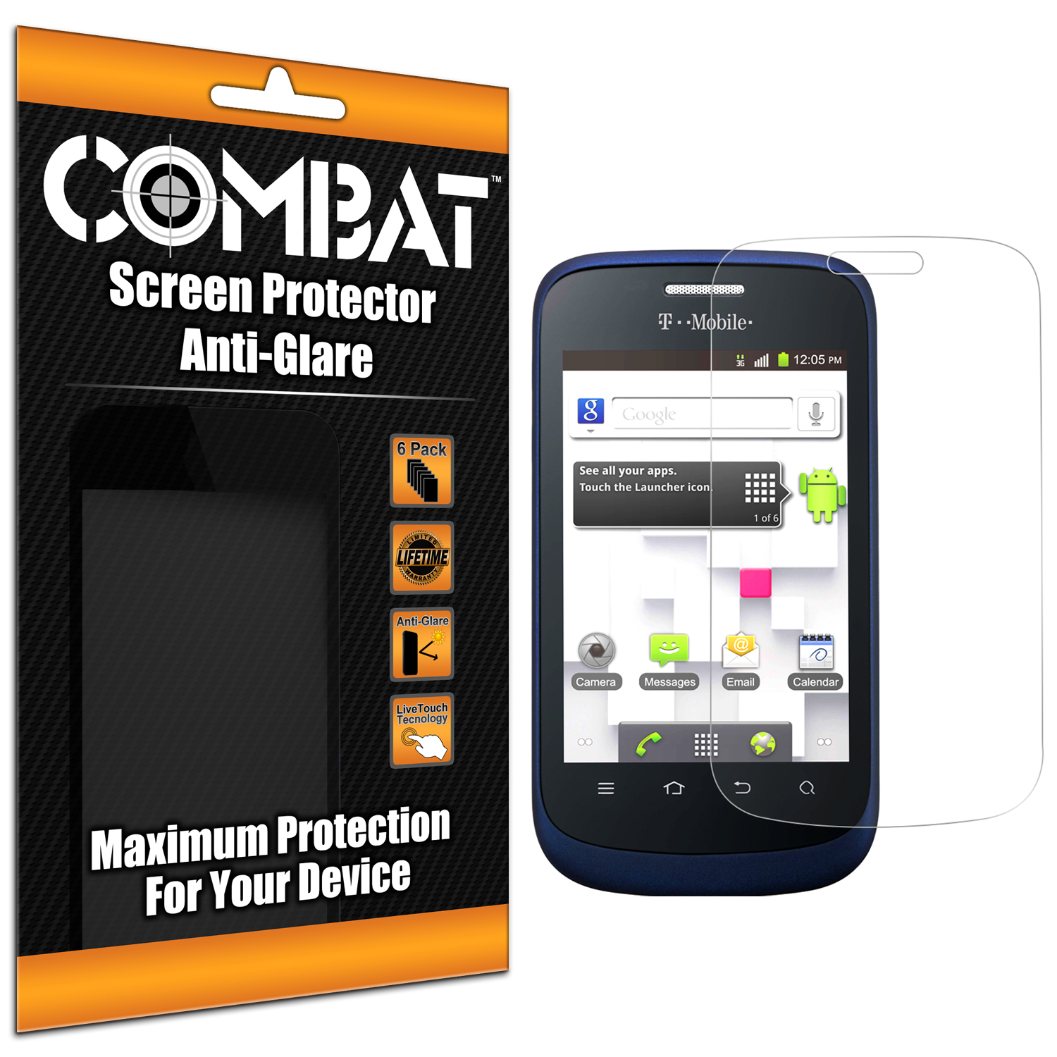 ZTE Concord 2 Combat 6 Pack Anti-Glare Matte Screen Protector