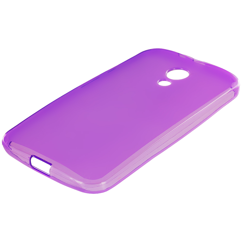 Motorola Moto G 2nd Gen 2014 Purple TPU Rubber Skin Case Cover