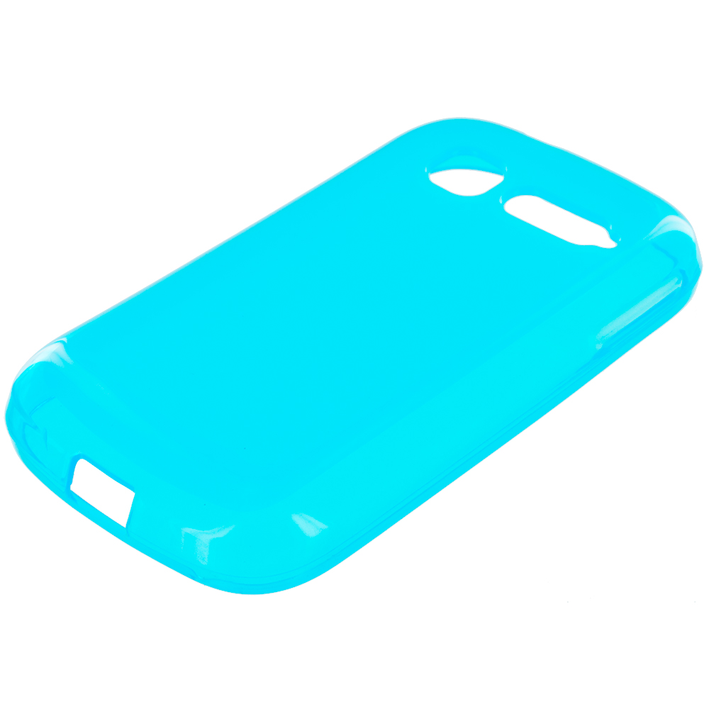 Alcatel One Touch Pop C1 Baby Blue TPU Rubber Skin Case Cover