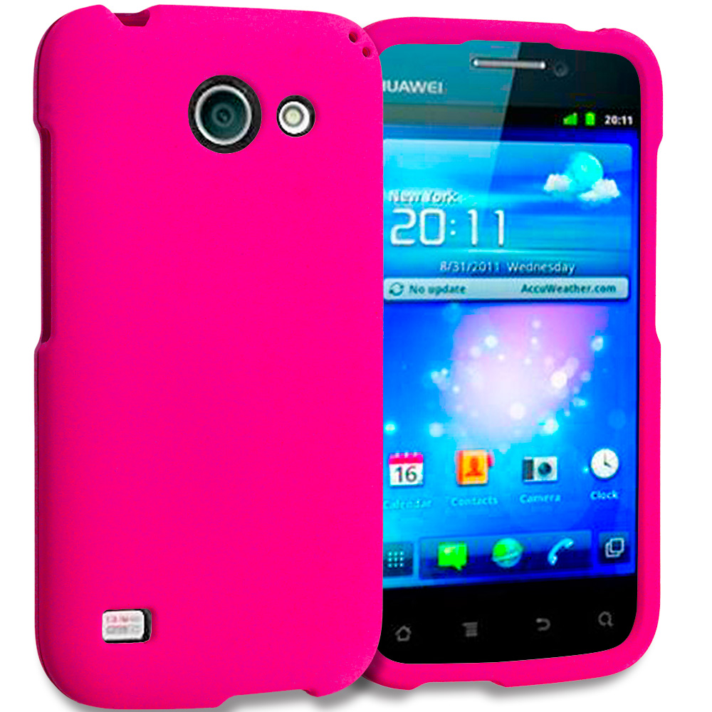Huawei Tribute Fusion 3 Y536A1 Hot Pink Hard Rubberized Case Cover