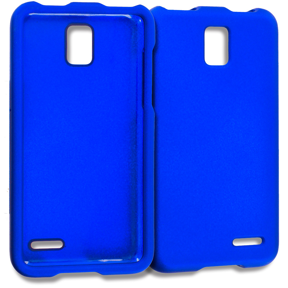 ZTE Rapido Z932C Blue Hard Rubberized Case Cover
