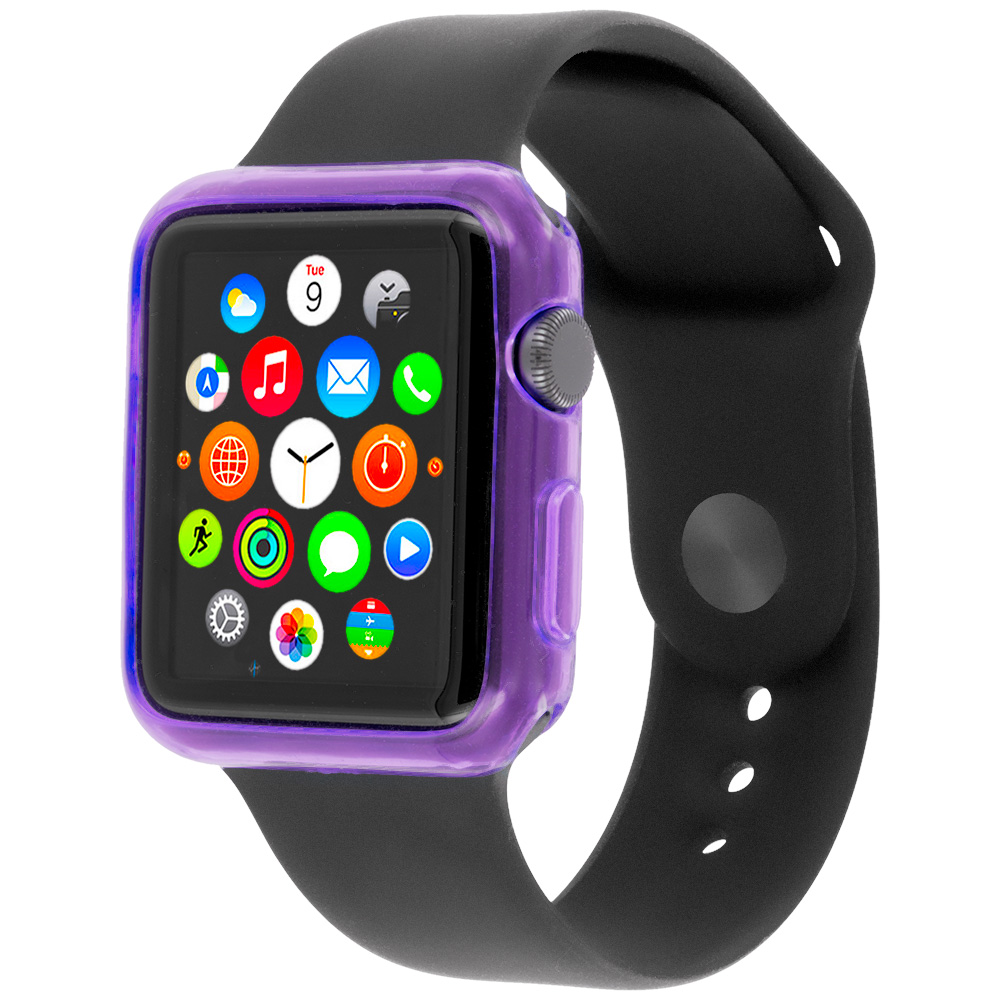 Apple Watch 42mm Purple TPU Rubber Skin Case Cover