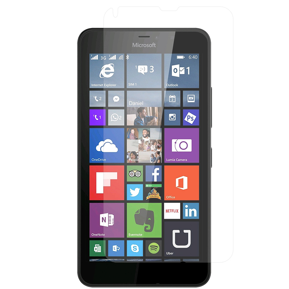 Microsoft Lumia 640 2 in 1 Combo Bundle Pack - Clear LCD Screen Protector : Color Clear