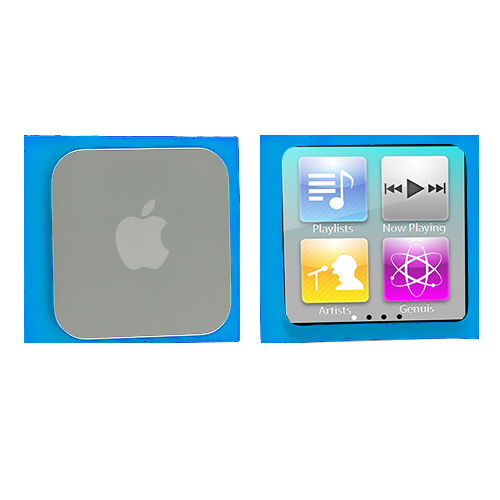 Apple iPod Nano 6th Generation Blue Silicone Soft Skin Case Cover