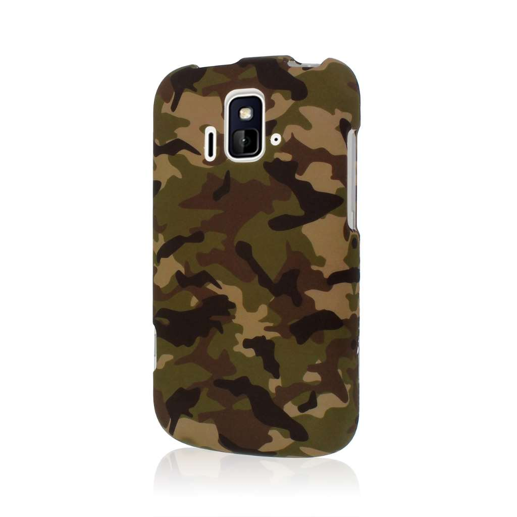 ZTE Radiant/ Sonata 4G - Green Camo MPERO SNAPZ - Rubberized Case Cover