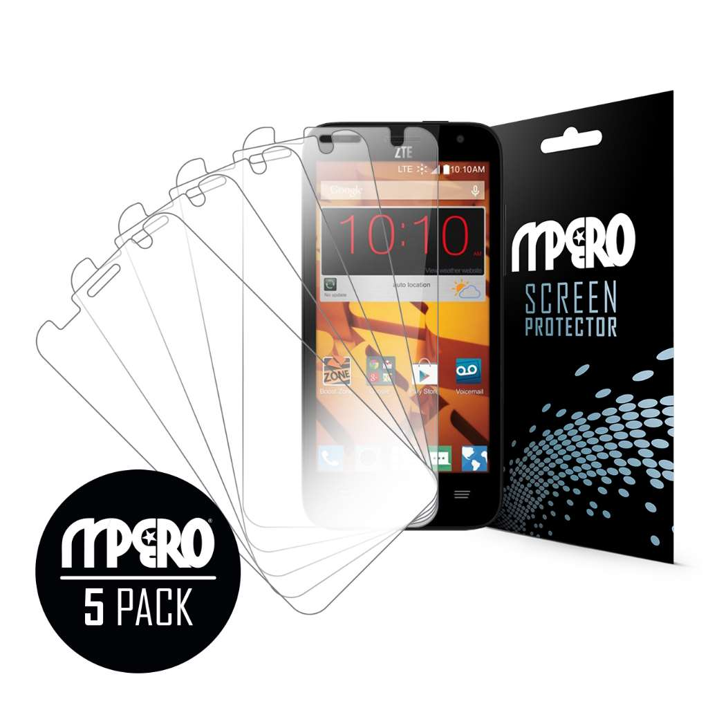 ZTE Speed MPERO 5 Pack of Ultra Clear Screen Protectors