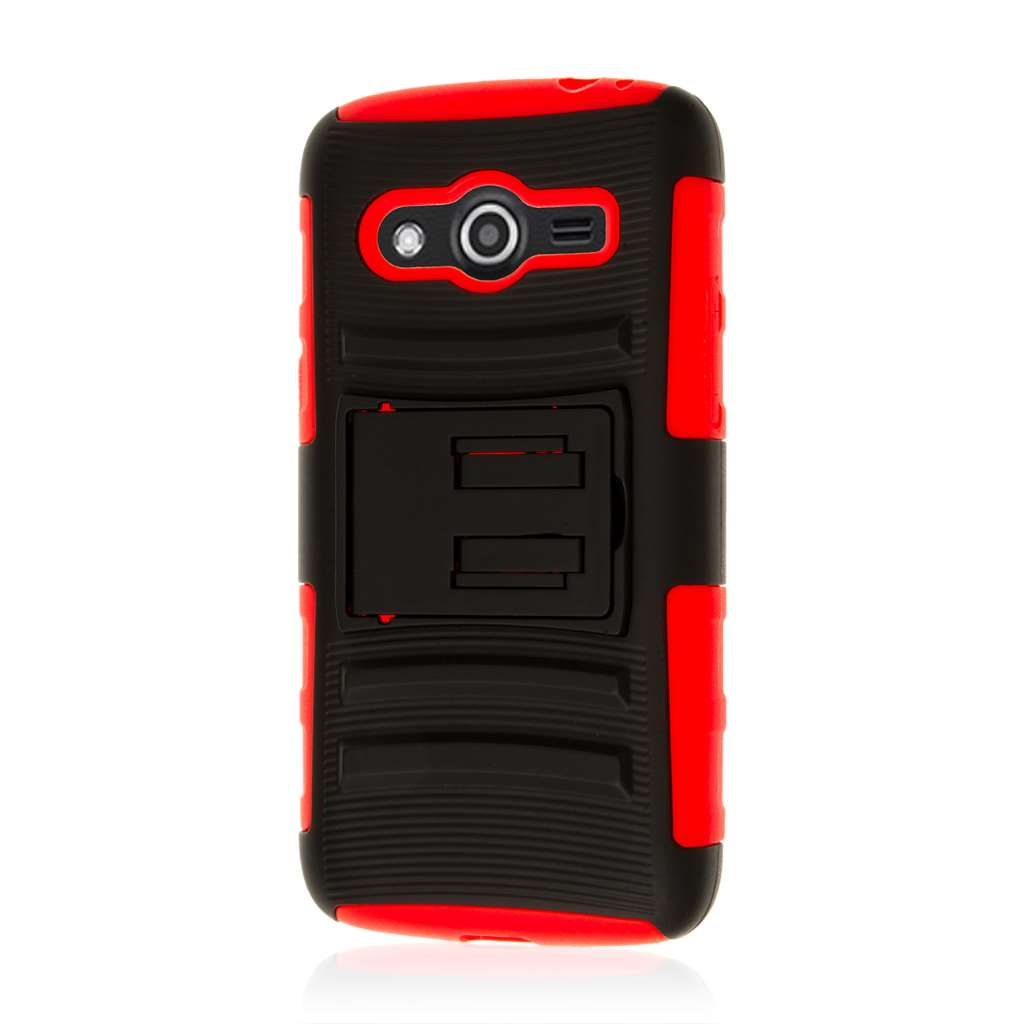 Samsung Galaxy Avant - Red MPERO IMPACT XT - Kickstand Case Cover
