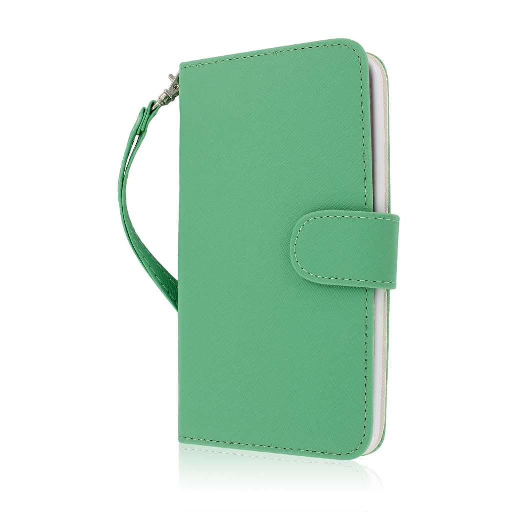 LG G Flex - Mint MPERO FLEX FLIP Wallet Case Cover