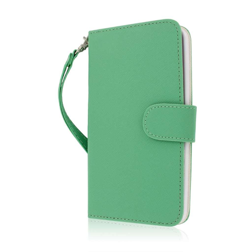 LG G Flex - Mint MPERO FLEX FLIP Wallet Case Cover