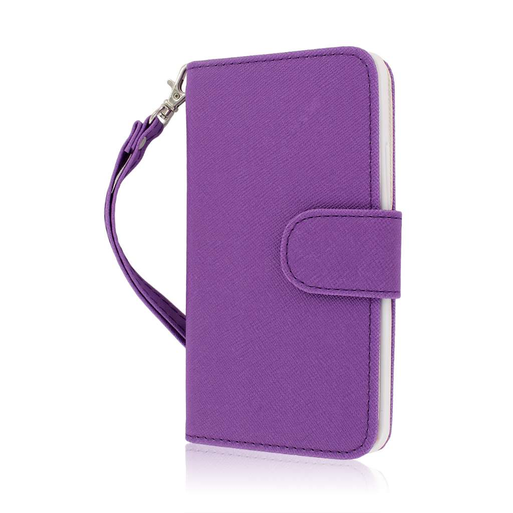 HTC One - Purple MPERO FLEX FLIP Wallet Case Cover
