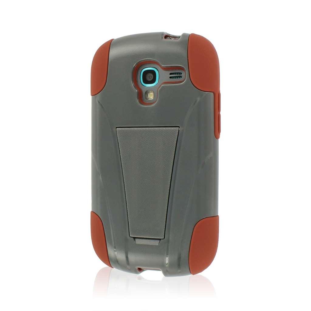 Samsung Galaxy Exhibit - Sandstone / Gray MPERO IMPACT X - Kickstand Case