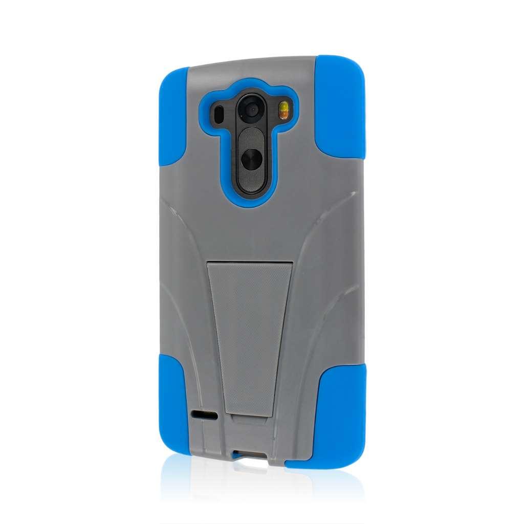 LG G3 - Blue / Gray MPERO IMPACT X - Kickstand Case Cover
