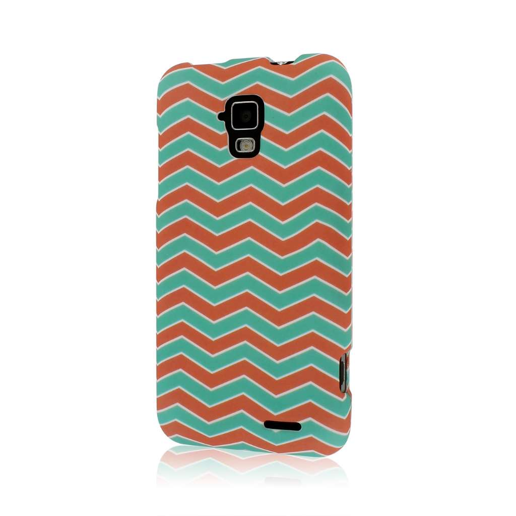 AT&T Z998 - Mint Chevron MPERO SNAPZ - Rubberized Case Cover
