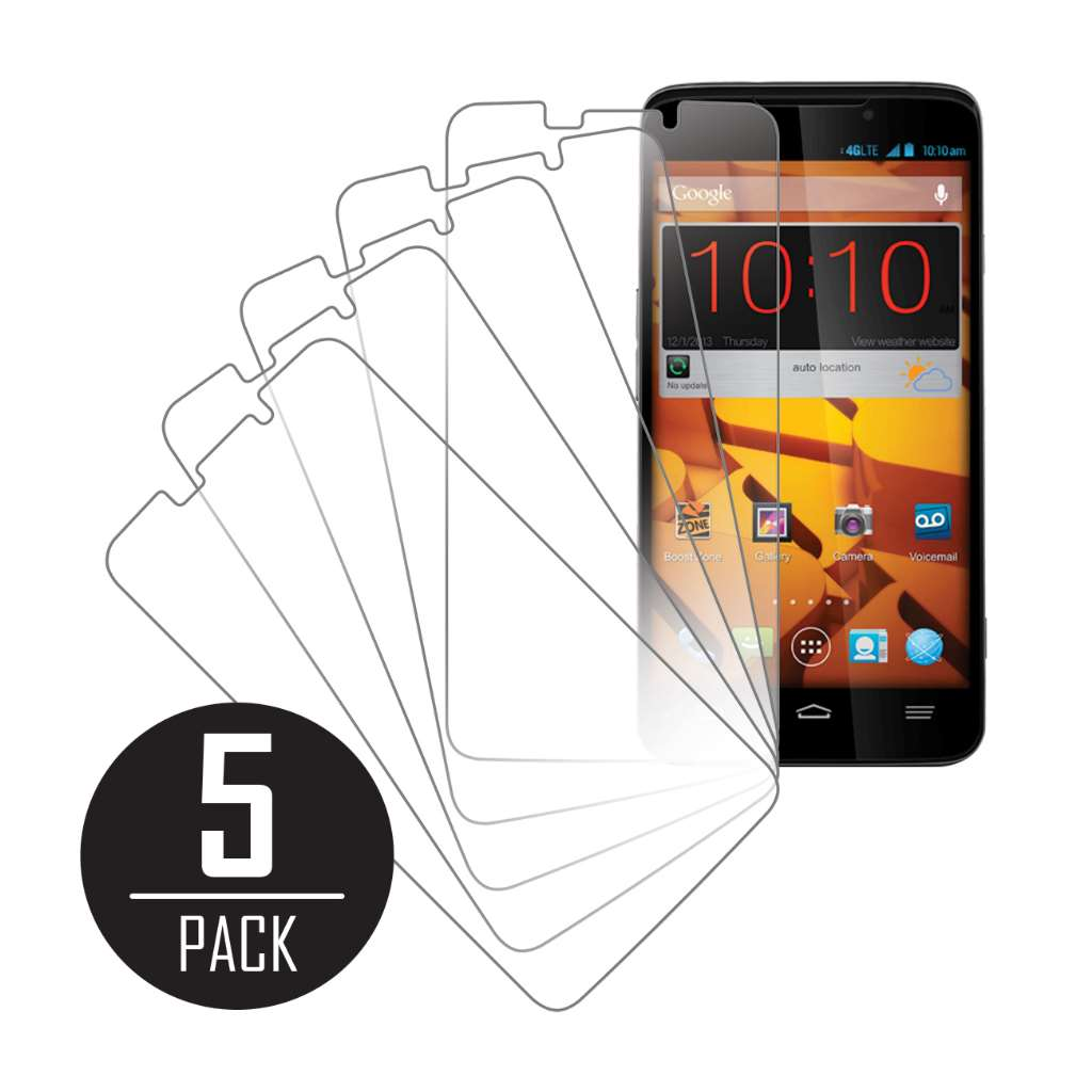 ZTE Boost Max MPERO 5 Pack of Clear Screen Protectors