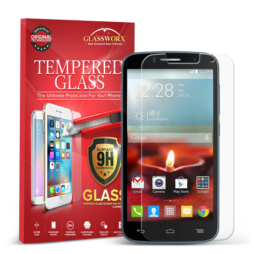 Alcatel One Touch Fierce 2 7040T GlassWorX HD Clear Tempered Glass Screen Protector