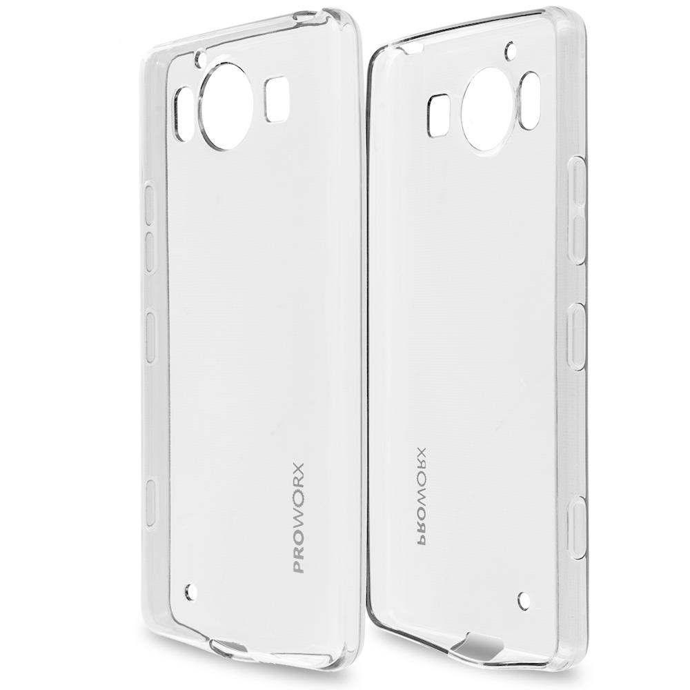 Microsoft Lumia 950 Clear ProWorx Ultra Slim Thin Scratch Resistant TPU Silicone Case Cover