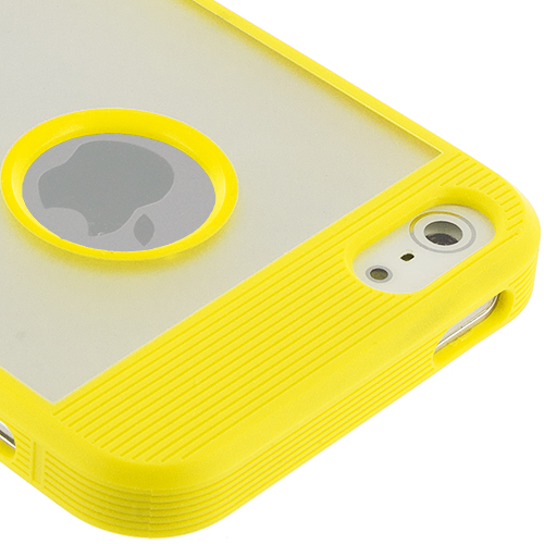 Apple iPhone 5/5S/SE Yellow Crystal TPU Hybrid TPU Case Cover