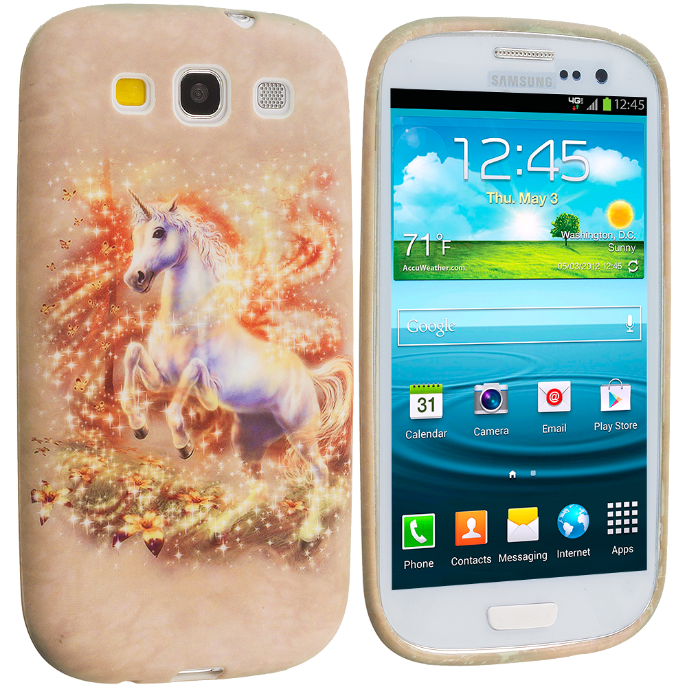 Samsung Galaxy S3 Unicorn TPU Design Soft Case Cover