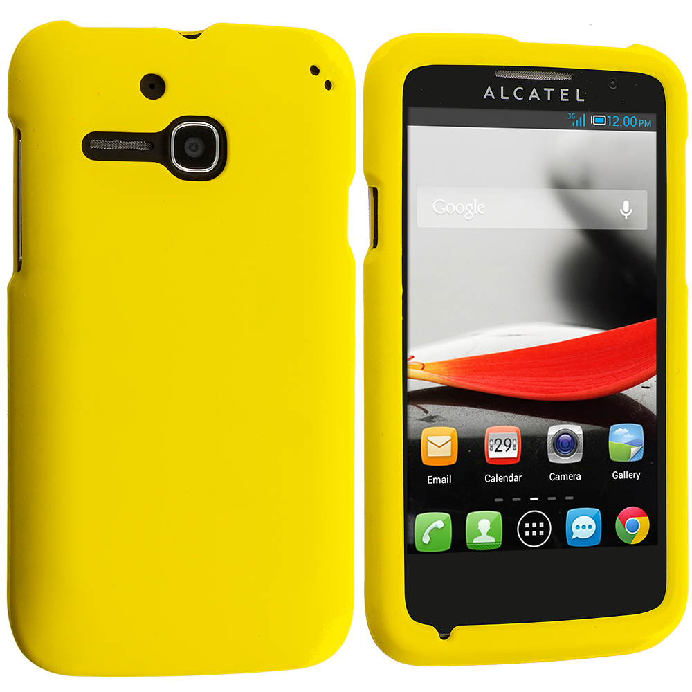 Alcatel One Touch Evolve 5020T Yellow Hard Rubberized Case Cover
