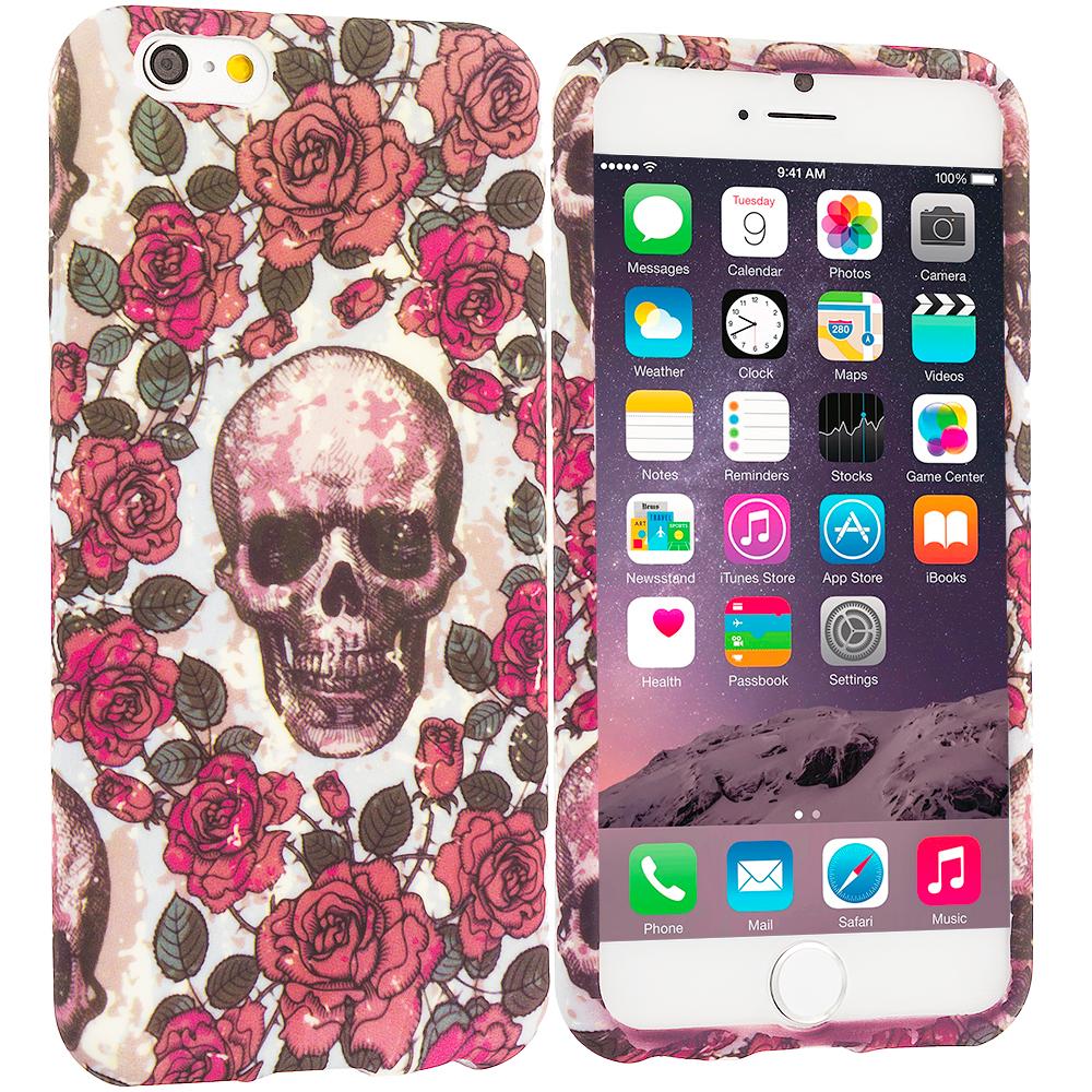 Apple iPhone 6 Plus 6S Plus (5.5) Gorgeous Skull TPU Design Soft Rubber Case Cover