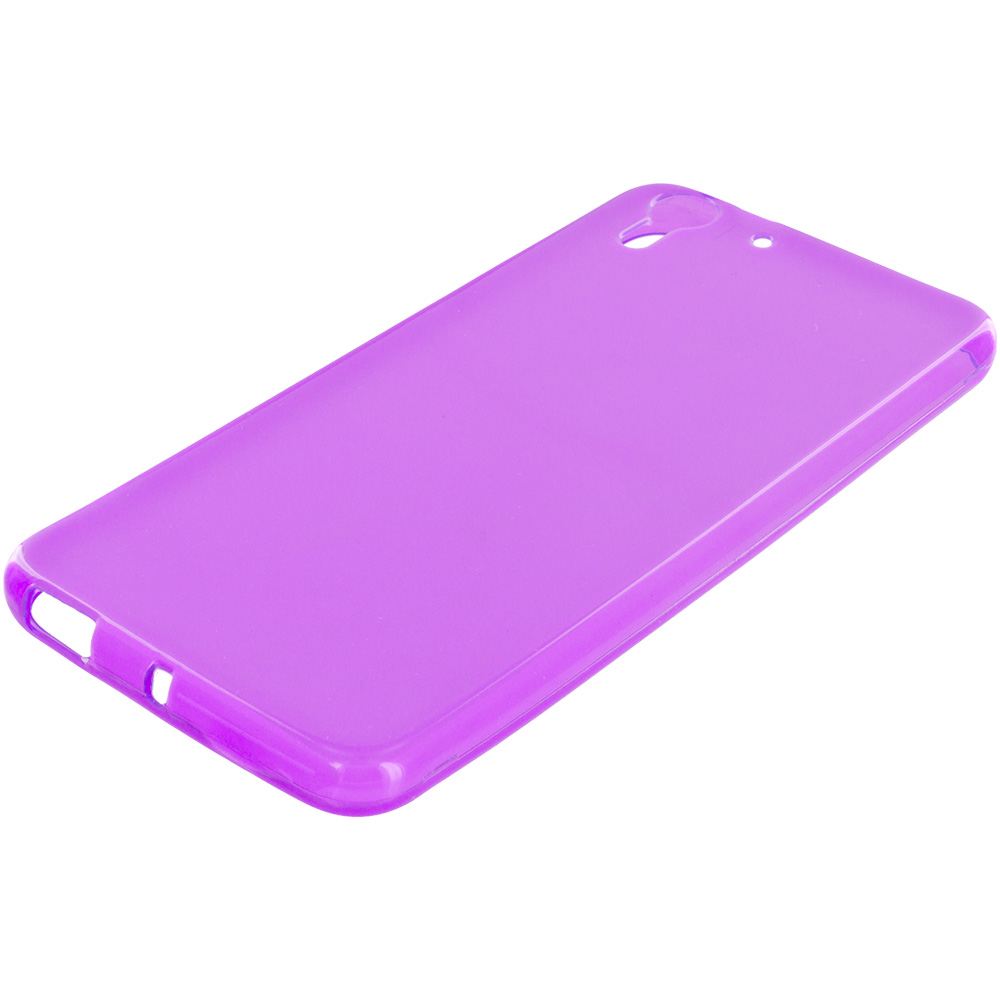 HTC Desire EYE Purple TPU Rubber Skin Case Cover