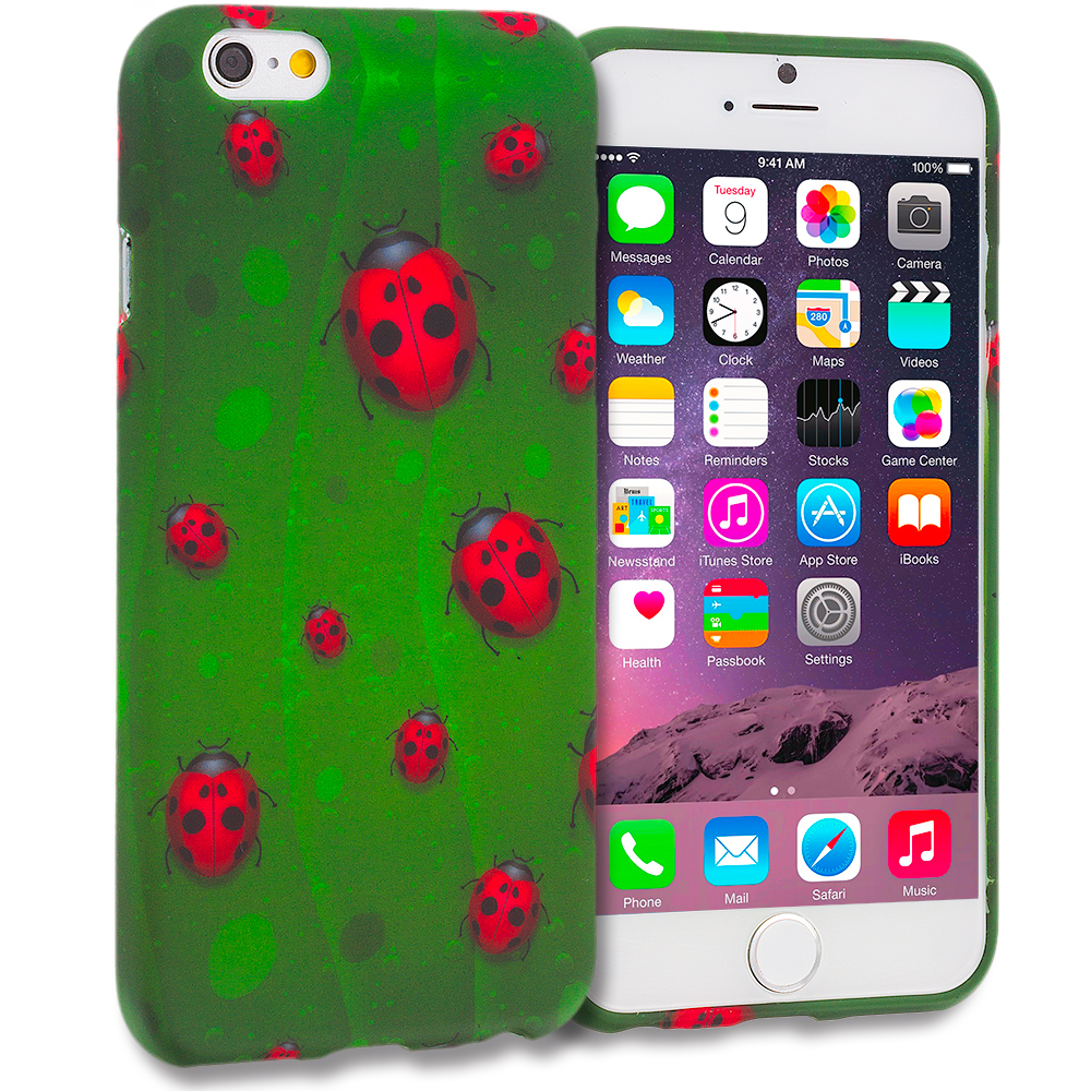 Apple iPhone 6 Lady Bug TPU Design Soft Rubber Case Cover
