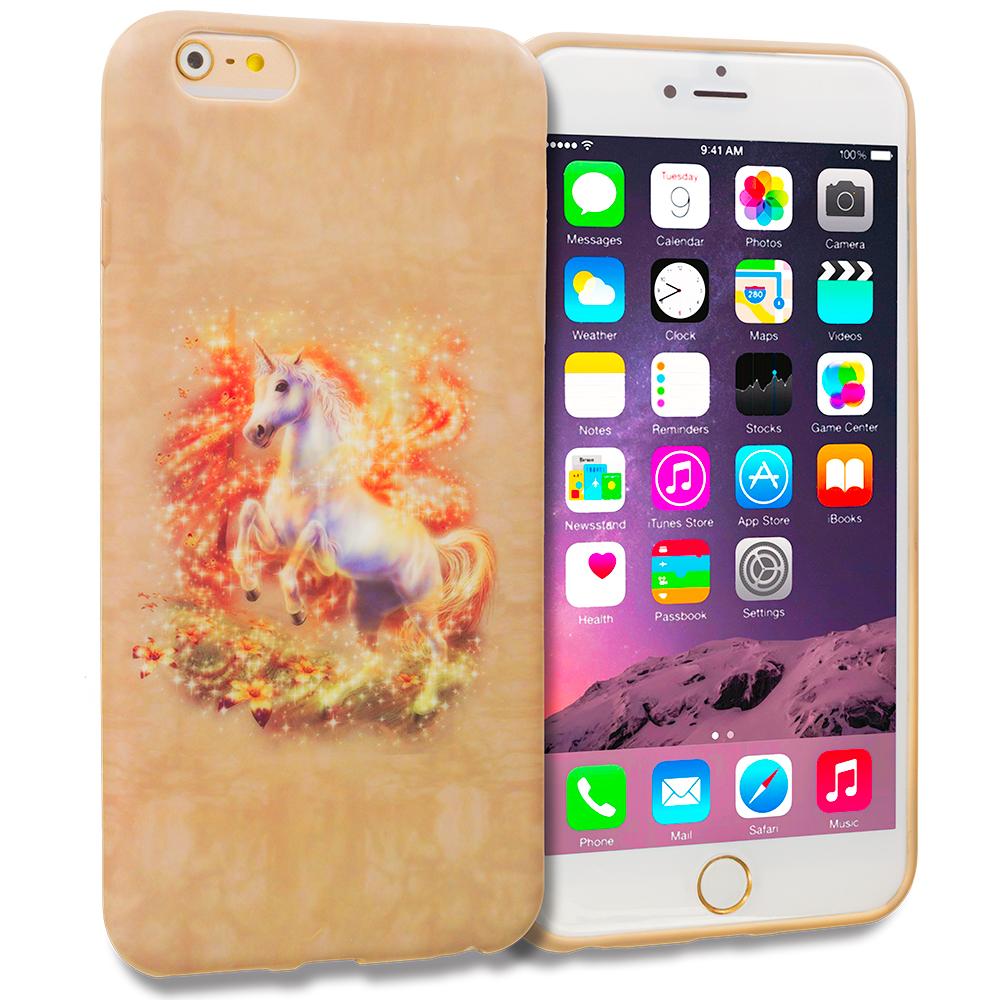 Apple iPhone 6 Plus 6S Plus (5.5) Unicorn TPU Design Soft Rubber Case Cover