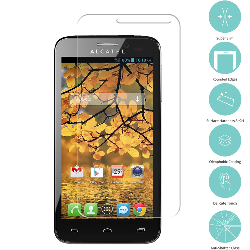 Alcatel One Touch Evolve 2 Clear Tempered Glass Film Screen Protector Clear