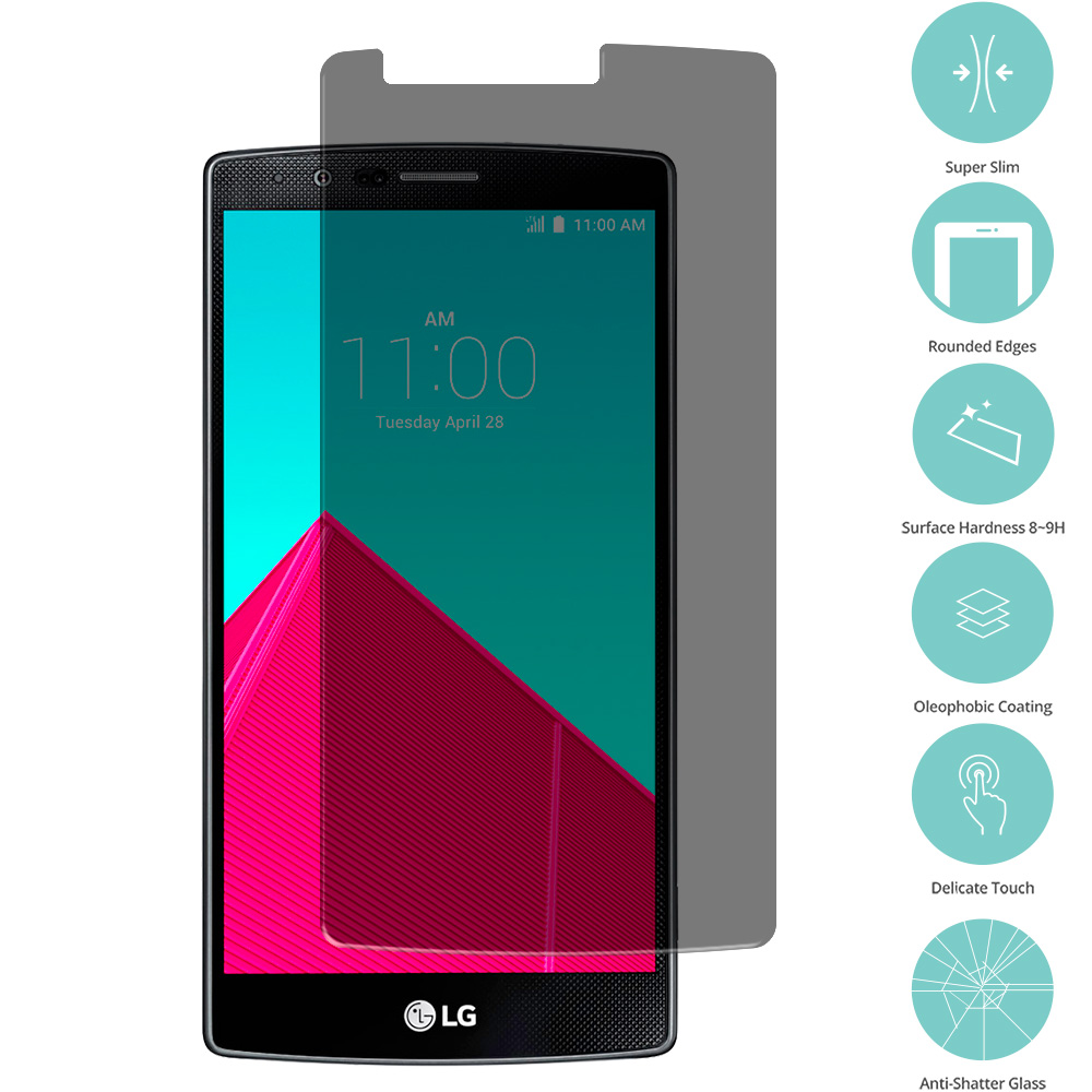 LG G4 Privacy Tempered Glass Film Screen Protector