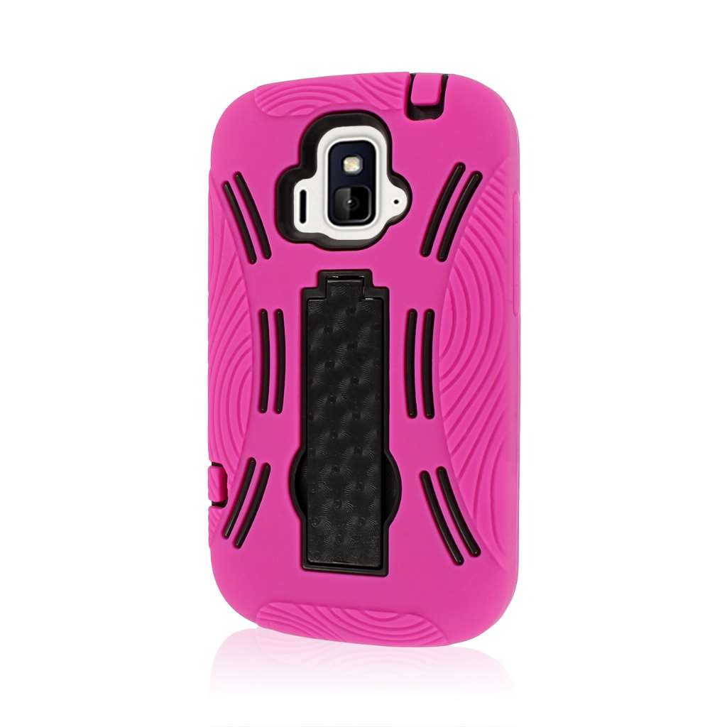 ZTE Radiant / Sonata 4G - Hot Pink MPERO IMPACT XL - Kickstand Case Cover