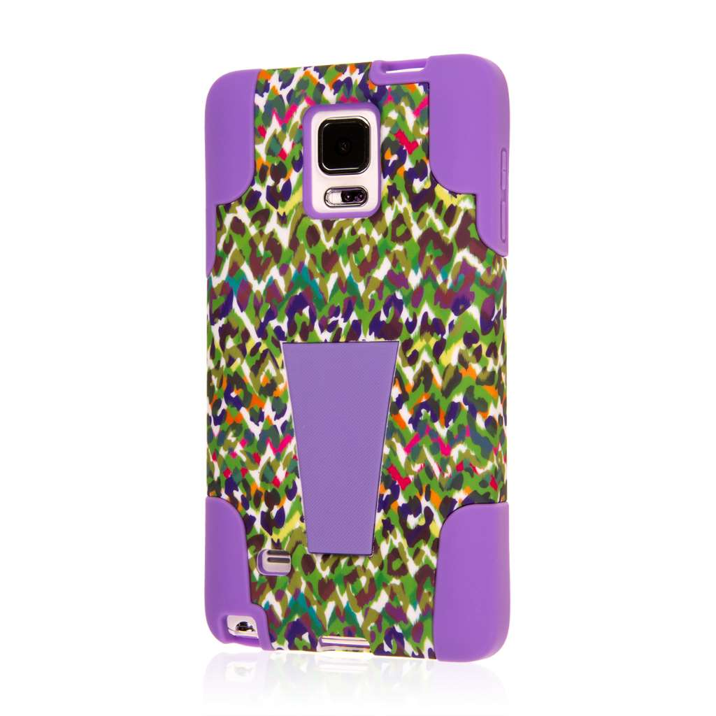 Samsung Galaxy Note 4 - Purple Rainbow Leopard MPERO IMPACT X - Stand Case