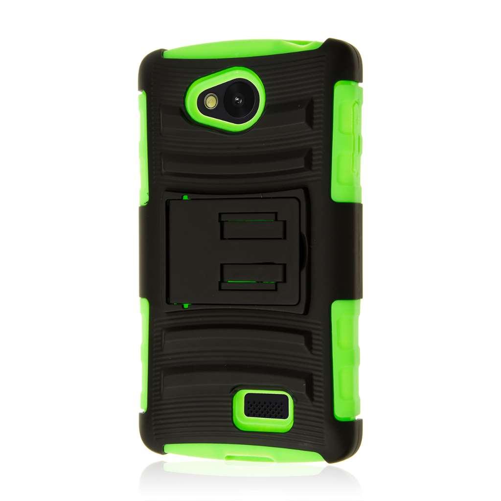 LG F60 - Neon Green MPERO IMPACT XT - Kickstand Case Cover