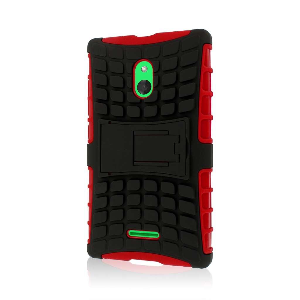 Nokia XL - Red MPERO IMPACT SR - Kickstand Case Cover