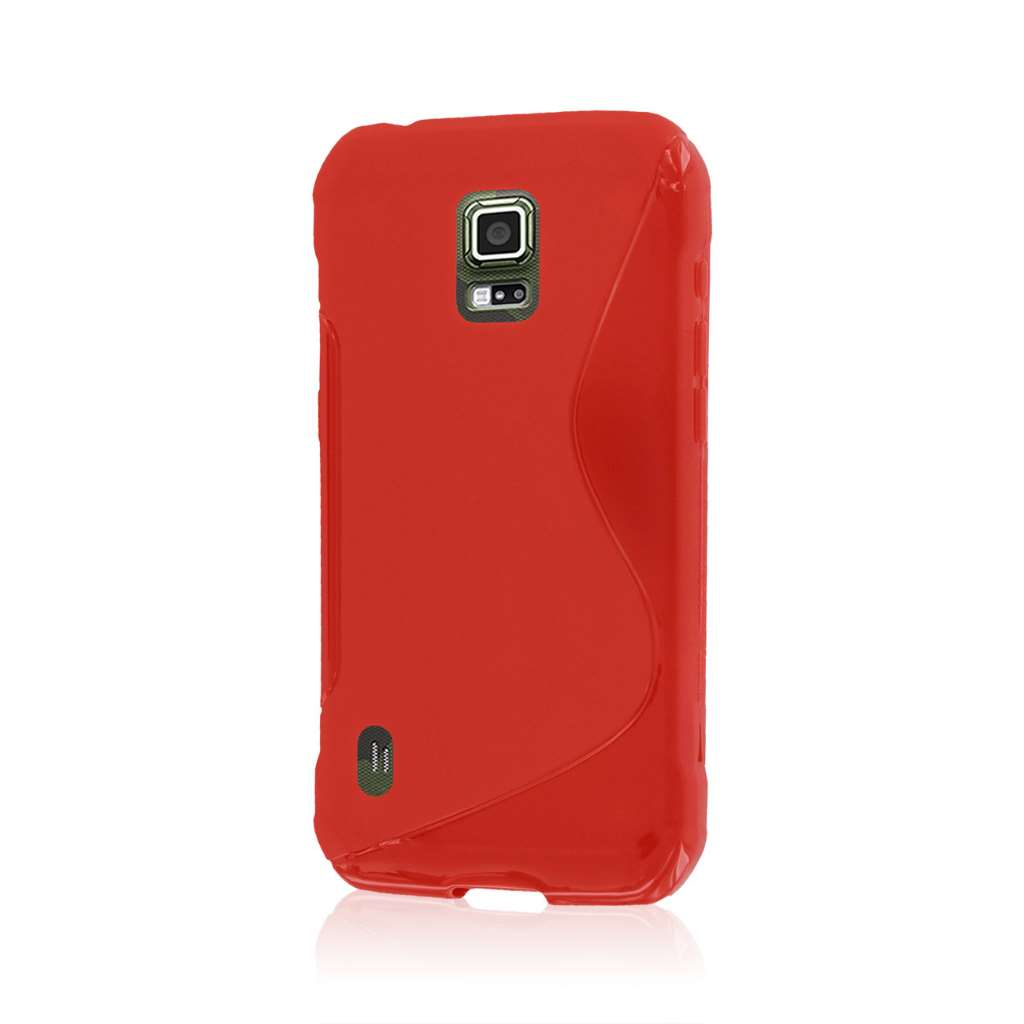 Samsung Galaxy S5 Active - Red MPERO FLEX S - Protective Case Cover