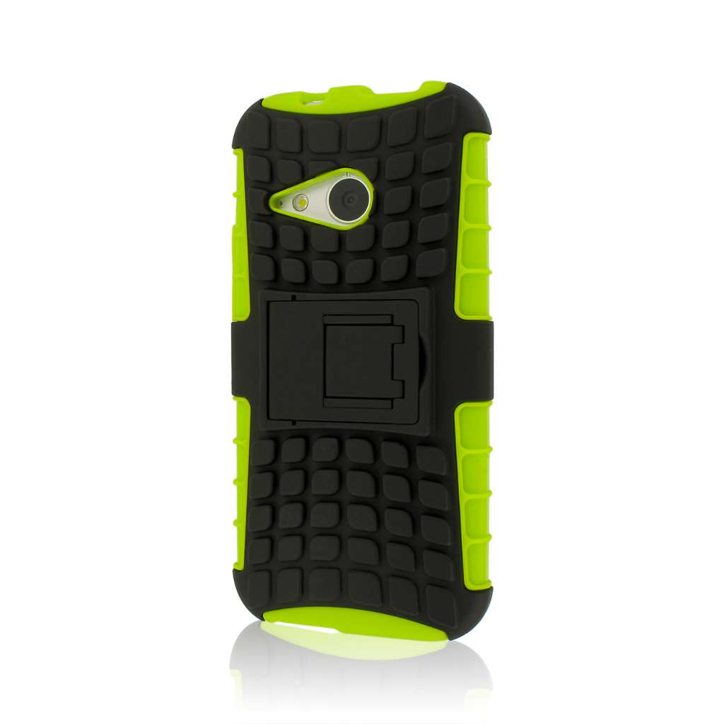 HTC One Mini 2 - Neon Green MPERO IMPACT SR - Kickstand Case Cover