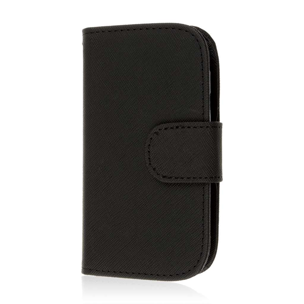 Samsung Galaxy Light - Black MPERO FLEX FLIP Wallet Case Cover