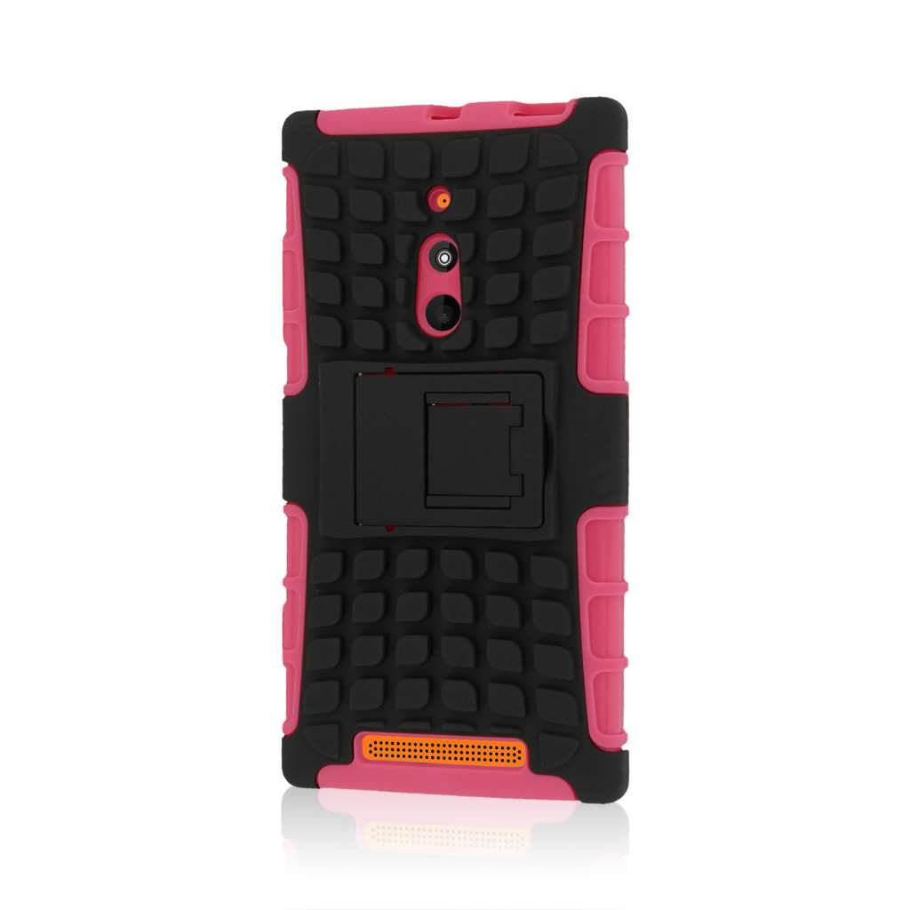 Nokia Lumia 830 - Hot Pink MPERO IMPACT SR - Kickstand Case Cover
