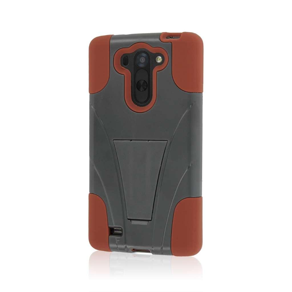 LG G Vista - Sandstone / Gray MPERO IMPACT X - Kickstand Case Cover