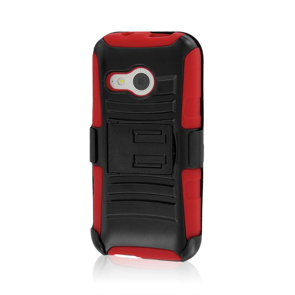 HTC One Mini 2 - Red MPERO IMPACT XT - Kickstand Case Cover
