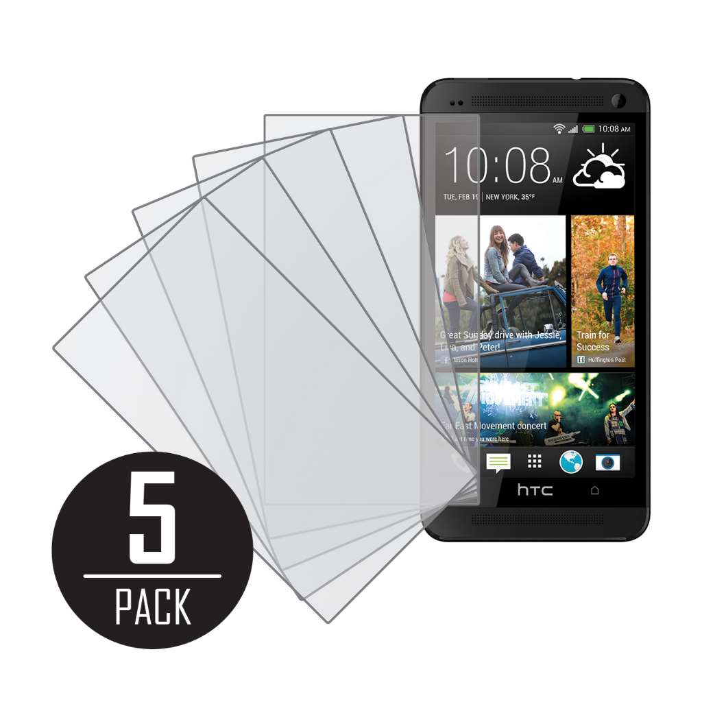 HTC One MPERO 5 Pack of Matte Anti-Glare Screen Protectors