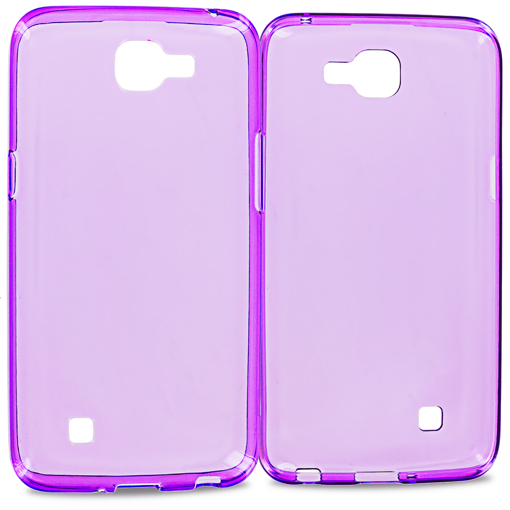 LG Spree Optimus Zone 3 VS425 K4 Purple TPU Rubber Skin Case Cover