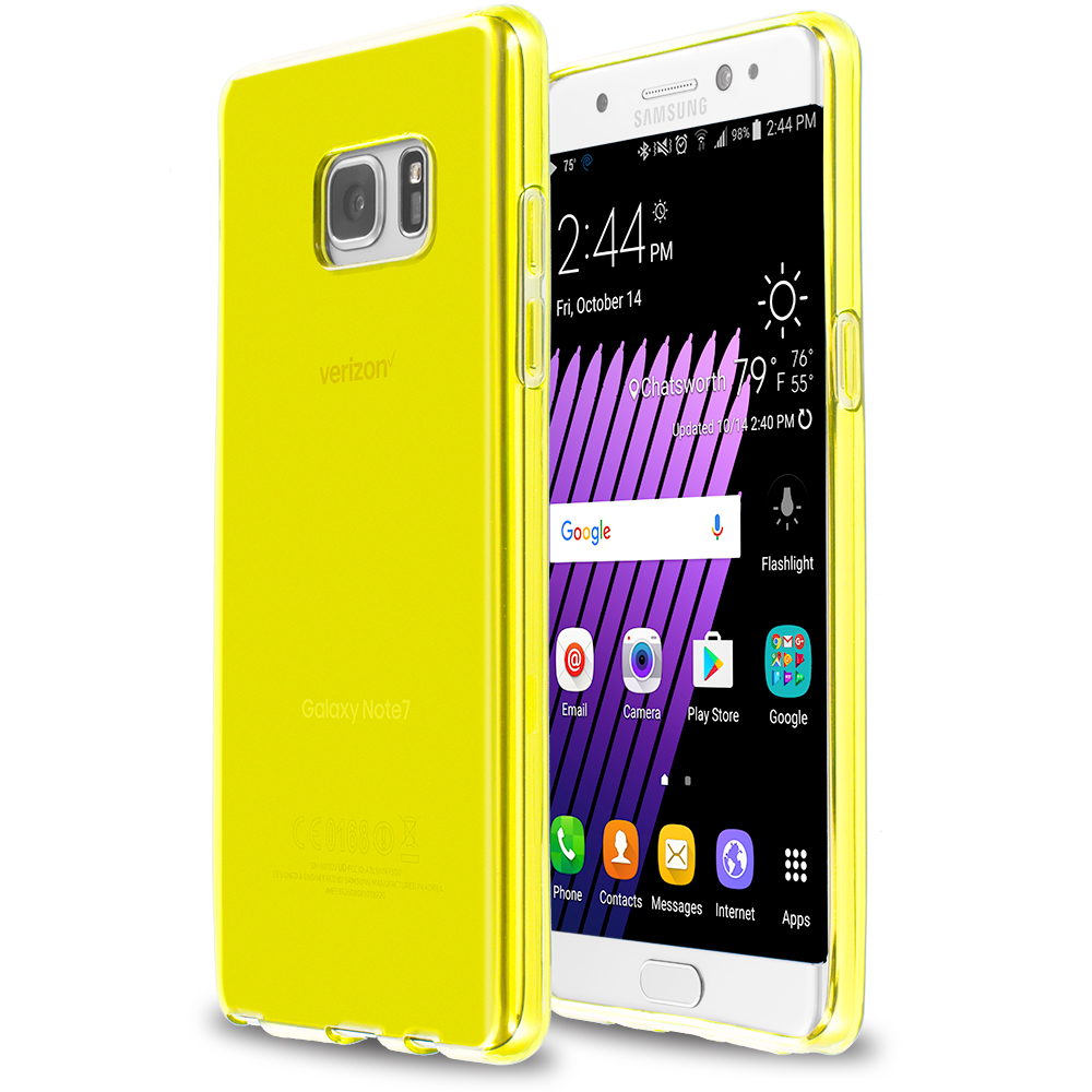 Samsung Galaxy Note 7 Yellow TPU Rubber Skin Case Cover