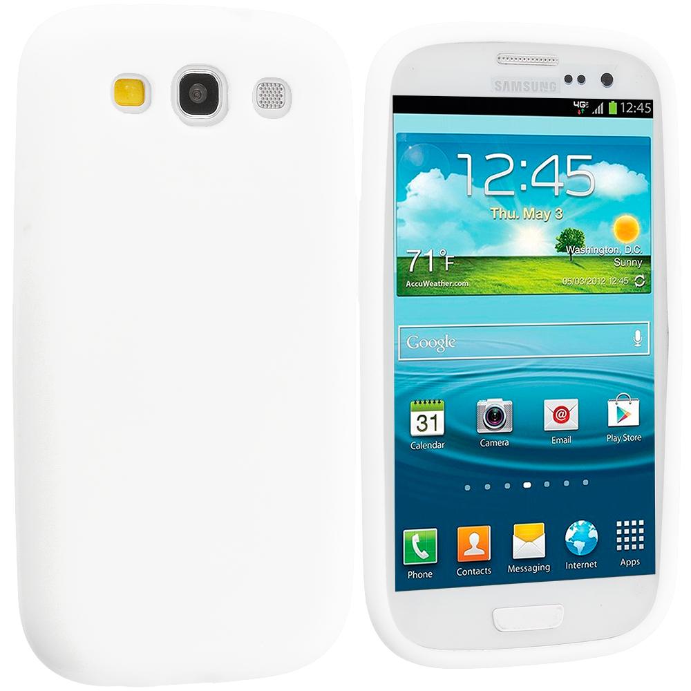 Samsung Galaxy S3 White Silicone Soft Skin Case Cover