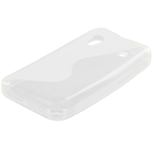 Samsung Galaxy Ace S5830 Clear S-Line TPU Rubber Skin Case Cover