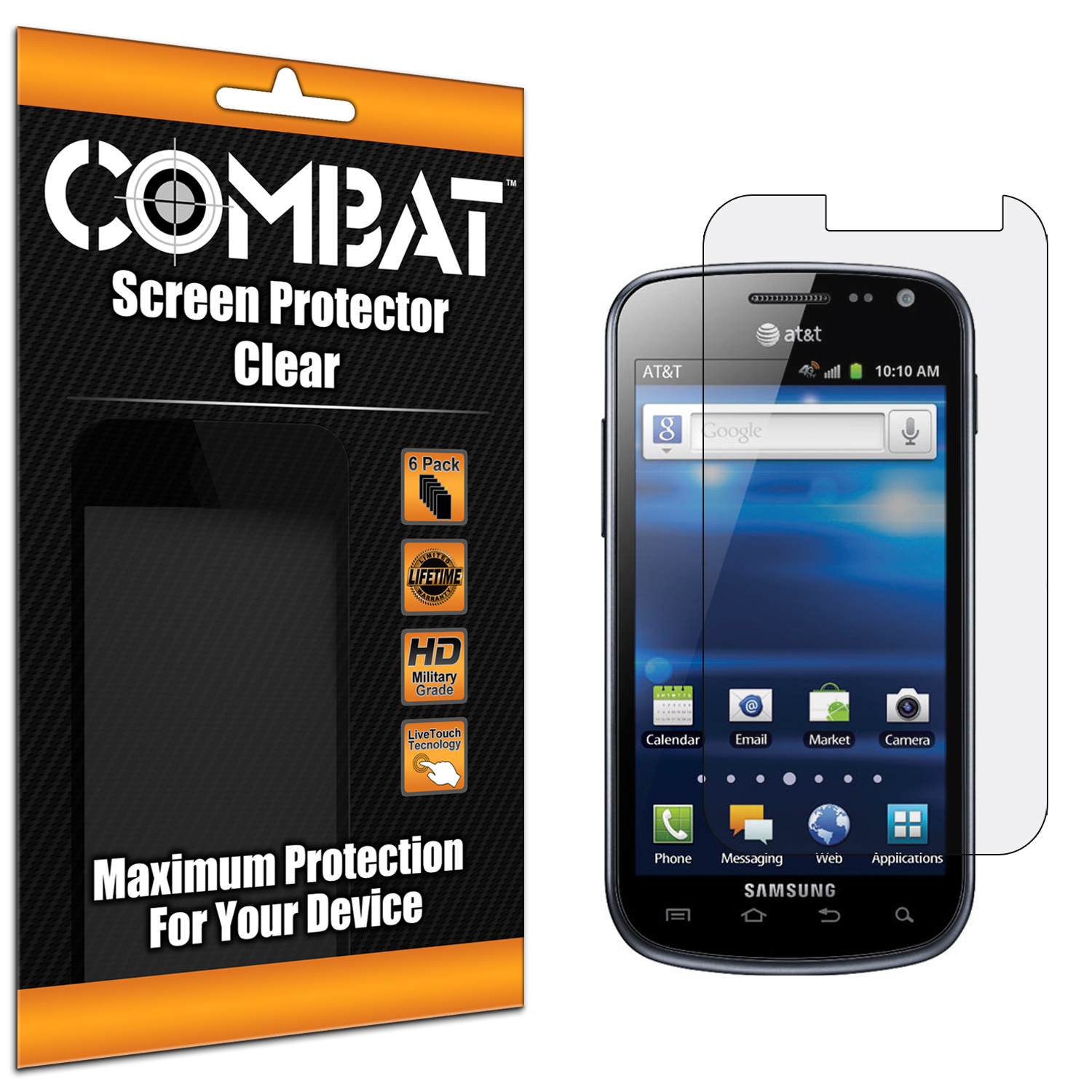 Pantech Burst P9070 Combat 6 Pack HD Clear Screen Protector