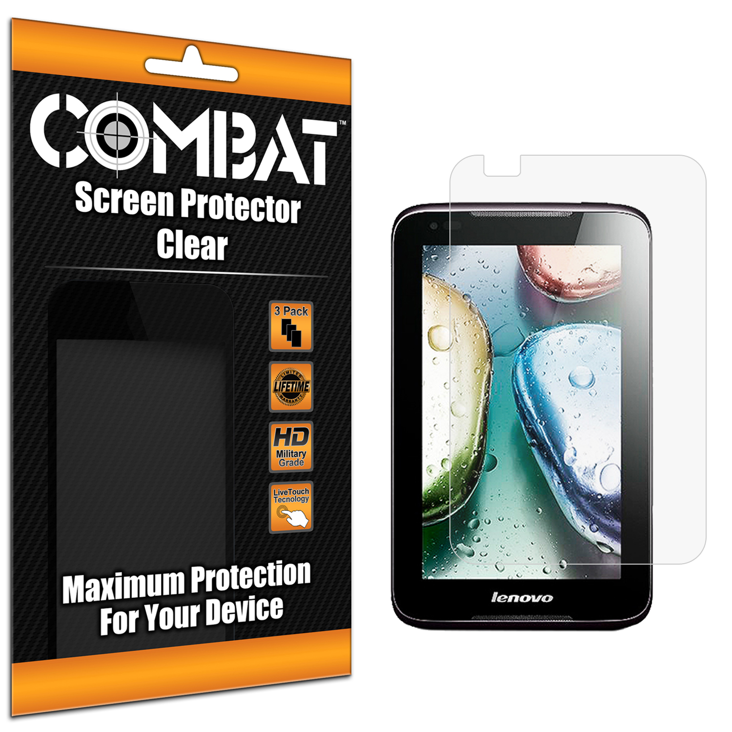 Lenovo IdeaTab A1000 Combat 3 Pack HD Clear Screen Protector
