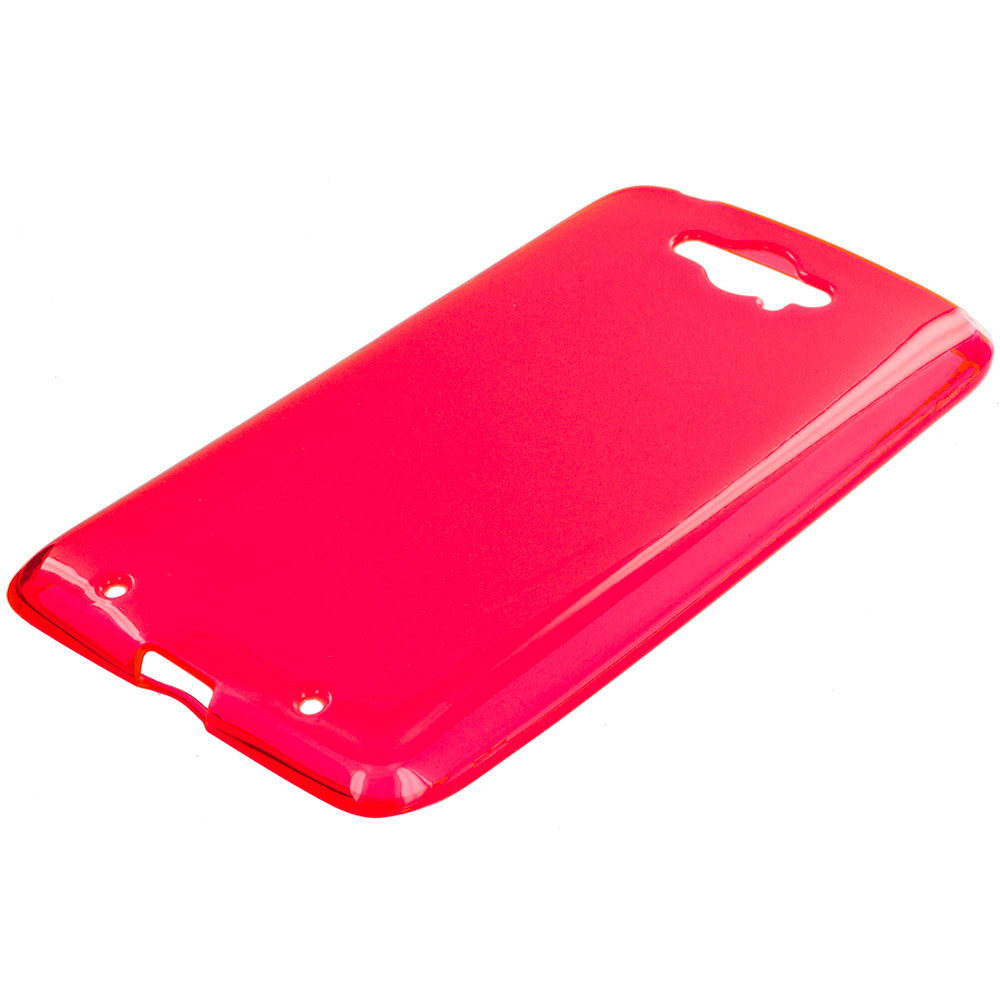 Motorola Droid Turbo Red TPU Rubber Skin Case Cover
