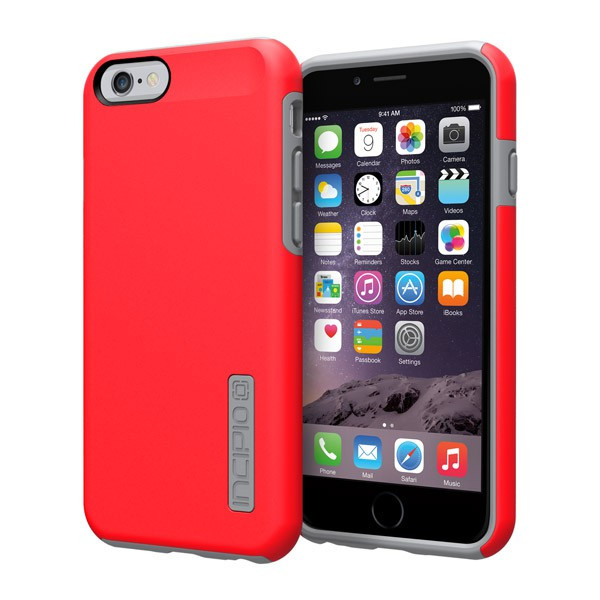 iPhone 6/6S - Red/Gray Incipio DualPro Case Cover